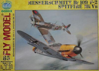 GOM-085        *          Messerchmitt BF 109 F-2 & Spitfire Mk Vb (1:33)
