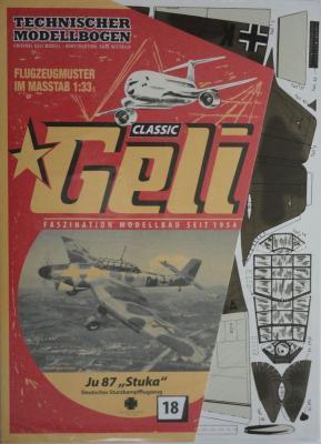 """018    *     JU 87 """"Stuka"""" (1:33)      *     GELI"""