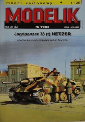 MOD-092      *     11\04     *   Jagdpanzer 38 (t) Hetzer (1:25)