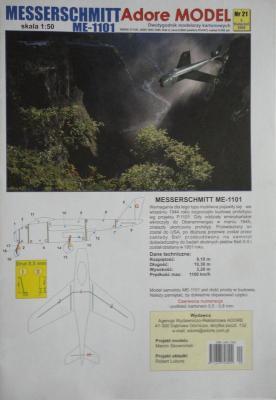 021\03       *       Messerchmitt Me-1101 (1:50)       *     ADORE