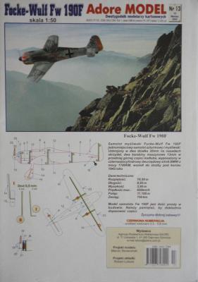 013\03      *       Focke-Wulf Fw 190F (1:50)       *      ADORE