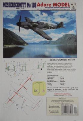 012\03      *      Messerchmitt Me-109 (1:50)      *     ADORE