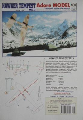 010\03        *         Hawker Tempest MK.II (1:50)      *     ADORE