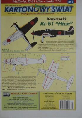 001\03      *       Mysliwiec Ki-61 Hien (1:50)      *     KS