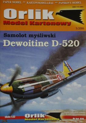 028     *     Samolot mysliwski Dewoitine D-520 (1:33)      *    Orlik