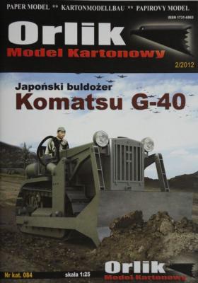 084     *      Japonski buldozer Komatsu G-40 (1:25)     *     Orlik