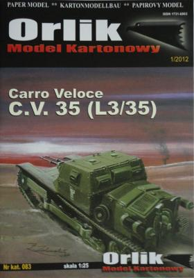 083    *     Carro Veloce C.V. 35 (L3/35) (1:25)       *    Orlik