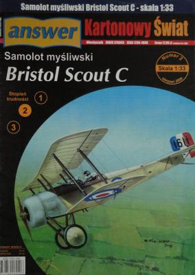 2spec\09      *      Samolot mysliwski Bristol Scout C (1:33)      *     Answ   KS