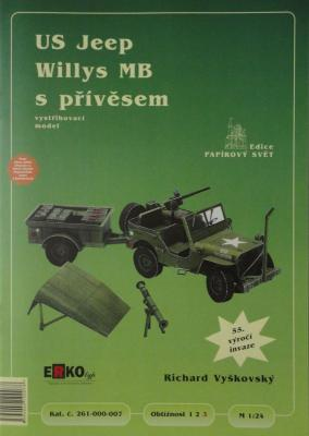007        *        US Jeep Willys MB s privesem (1:24)      *     ERKO