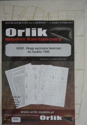 Резка     *   W065   *  Wregi wycinane laserowo do modelu YMS     *    ORLIK
