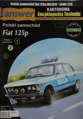 025    *      2\09      *        Polski samochod Fiat 125p (1:25)    *     Answer  KET