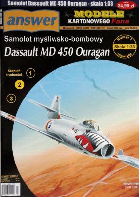038    *     7\07      *       Dassault MD 450 Ouragan (1:33)       *      ANSW- MKF