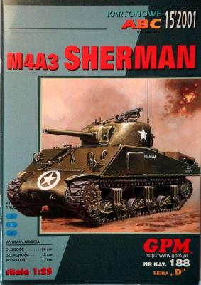 GP-109     *     15\01\188     *    M4A3 Sherman (1:25)
