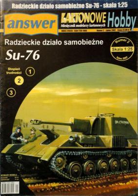 021     *    2\07     *     Radzieckie dzialo samobiezne SU-76 (1:25)       ANSW   KH