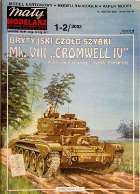 """427    *     1-2\02     *     Brytyjski czolg szybki Mk. VIII """"Cromwell IV"""" (1:25)   *    Mal Mod"""