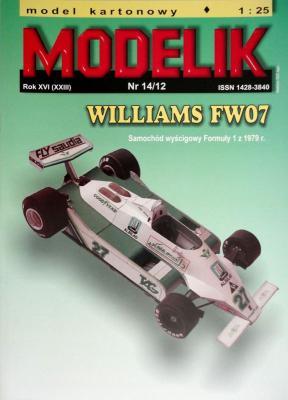 MOD-326     *     14\12     *      Williams FW07 (1:25)