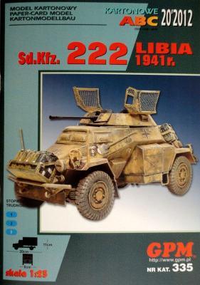 GP-318     *     20\12\335      *     Sd.Kfz. 222 Libia 1941r. (1:25)