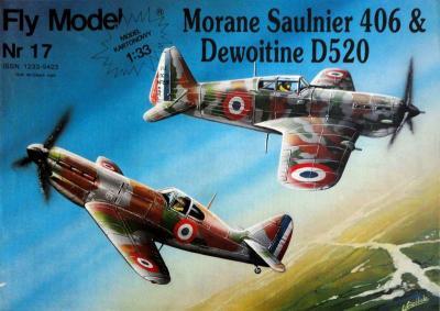 FLy-017     *     Morane Saulnier 406 & Dewoitine D520 (1:33)     +колеса