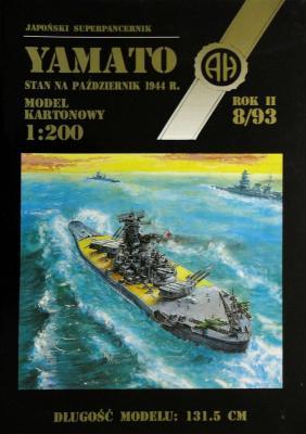 020     *     8\93    *     Yamato stan na pazdziernik 1944r. (1:200)      *     HAL