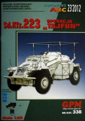 "GP-321    *      23\12\338     *     Sd.Kfz. 223 Operacja ""Tajfun"" (1:25)"