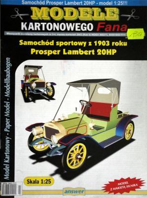 013     *     3-4\03     *    Samochod sportowy z 1903 roku Prosper Lambert 20HP (1:25)     *   Answ  MKF