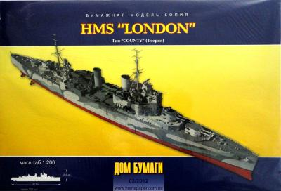"021    *    2\12     *     HMS ""London"" (1:200)     *     DOM"