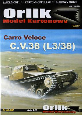087   *   Carro Veloce C.V.38 (L3/38) (1:25)    *   Orlik