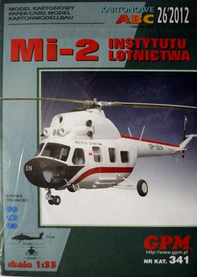 GP-324    *   26\12\341   *   MI-2 Instytutu lotnictwa (1:33)    +   резка