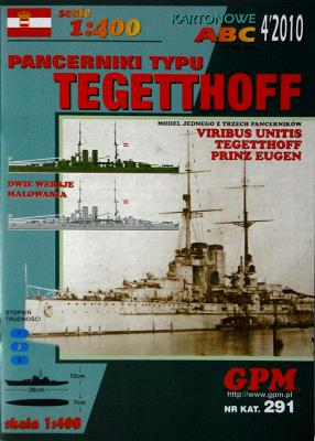 GP-264    *    4\10\291    *    Pancerniki typu Tegetthoff (1:400)