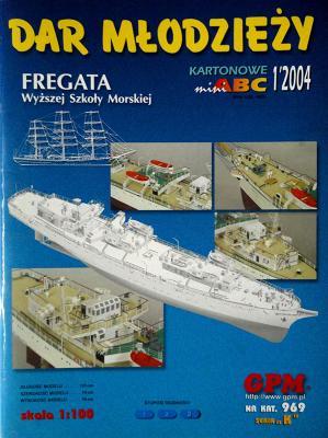 969  *  1\04   *   DAR  MLODZIEZY  Fregata wyzszej Szkoly Morskiej (1:100)   *   GPM-ABC