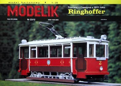 MOD-335    *    23\12    *   Tramwaj z Cieszyna z 1911 roku Ringhoffer (1:25)