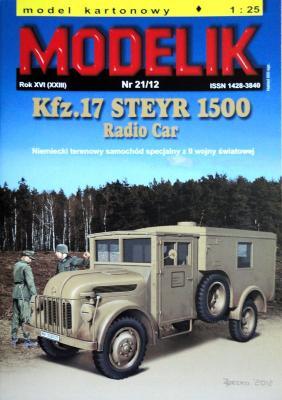MOD-333    *   21\12    *   Kfz.17 Steyr 1500 radio car (1:25)