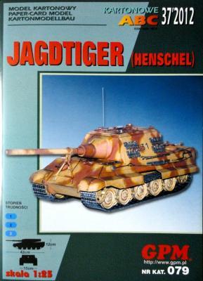 GP-335   *  37\12\079   *   Jagdtiger (Henschel) (1:25)