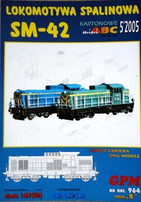 964  *  5\05   *   Lokomotywa Spalinowe SM-42 (1:87)   *  GPM-ABC   HO