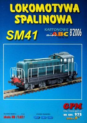 975   *   8\06   *   Lokomotywa Spalinowa SM41 (1:87)   *   GPM-ABC  HO