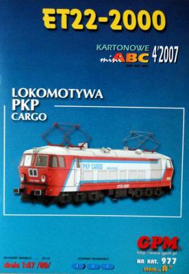 977   *   4\07   *    Lokomotywa PKP Cargo ET22-2000 (1:87)    *   GPM-ABC  HO