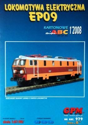 979    *   1\08  *   Lokomotywa elektryczna EP09 (1:87)   *   GPM-ABC  HO