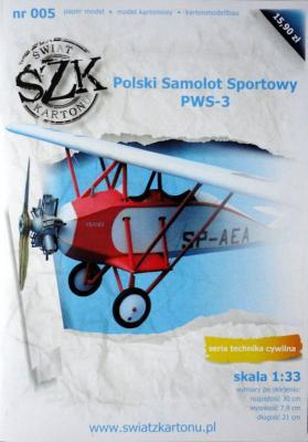 005   *   Polski Samolot Sportowy PWS-3 (1:33)   *  SzK