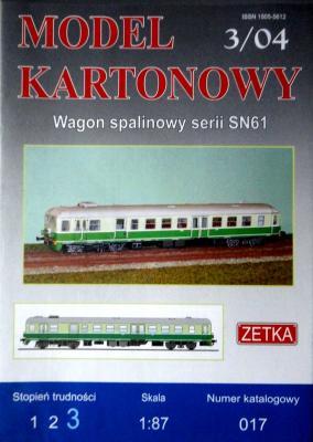 017   *   3\04   *  Wagon spalinowy serii SN61 (1:87)   *  ZETKA