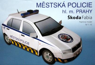 057-2   *   Mestska policie Skoda Fabia (1:15)   *   BETEXA