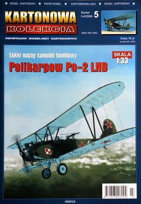 05   *   3-4\08   *    Polikarpow Po-2 LNB (1:33)   *   KART-KOL
