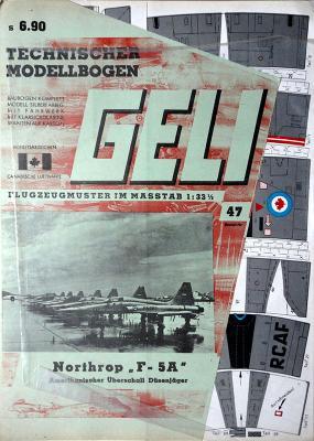 "047   *  Northrop ""F-5A""  (1:33)   *  GELI"