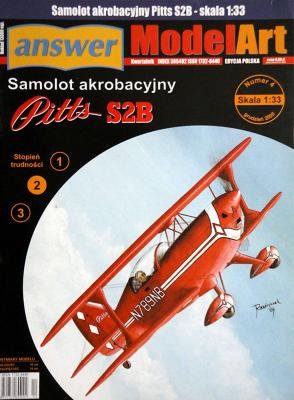 005   *   4\05   *  Samolot akrobacyjny Pitts S2B (1:33)    *   Answ M-Art