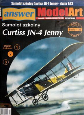 015   *   IIIsp.\06   *   Samolot szkolny Curtiss JN-4 Jenny (1:33)   *  Answ M-Art