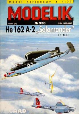 "Mod-022   *   9\98   *   He 162 A-2 ""Salamander"" (1:33)"