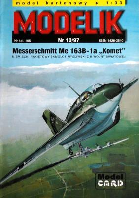 """Mod-010   *   10\97     *   Messerschmitt Me 163B-1a """"Komet"""" (1:33)"""