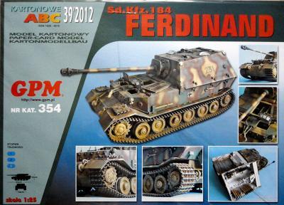 "GP-337   *   39\12\354    *   Sd Kfz 184 ""Ferdinand"" (1:25)"