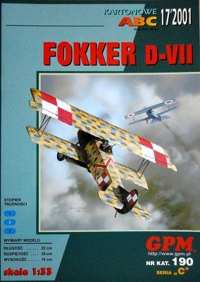 GP-111   *   17\01\190   *   Fokker D-VII (1:33)