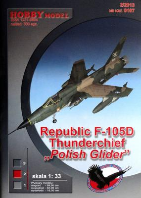 "Hob\M-107   *   Republic F-105D Thunderchief ""Polish glider"" (1:33)    +кабина"