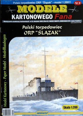 "017   *   8\03    *   Polski torpedowiec ORP ""Skazak"" (1:200)    *   ANSWER  MKF"